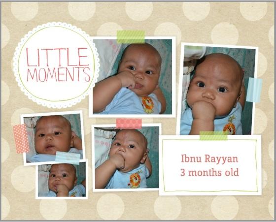 Ibnu 3 bulan, lagi seneng2nya masukin tangan ke mulut :D